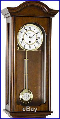 Hermle Brooke 70815-Q90341 Walnut Finish Regulator Wall Clock Westminster Chimes