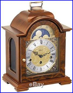 Hermle Debden 22864-070340 Walnut Keywound Mantel Clock with Westminster Chimes