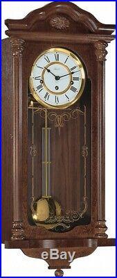 Hermle Fulham Mechanical Regulator Wall Clock Walnut Westminster Chime