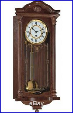 Hermle Fulham Walnut Westminster Chime Wall Clock 70509-030341