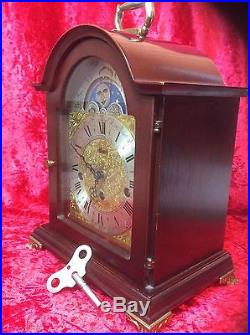 Hermle Westminster Chime & Moonphase Musical Bracket Clock Spares or Repair