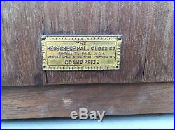 Herschede 1915 Grand Prize Canterbury Westminster Chime Mantle Clock Part Repair