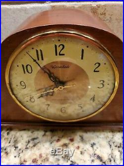 Herschede Model H-850 Electric Mantle Westminster Chime Clock Made in USA