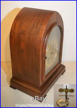 Herschede Restored Model 20-1920 Westminster Chimes Rare Gothic Antique Clock