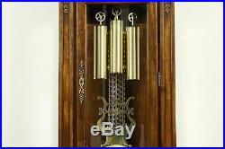 Herschede Vintage Cherry Grandfather Tall Case Clock, Westminster Chime #32762