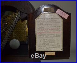 Herschede vintage mantel clock Westminster chimes