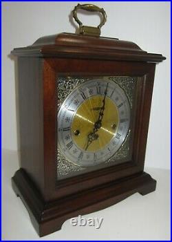 Howar Miller Quarter Hour Westminster Chime Bracket Clock 8-day