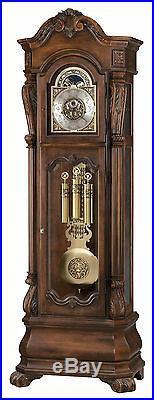 Howard Miller 611-025 (611025) Hamlin Grandfather Floor Clock Rustic Cherry