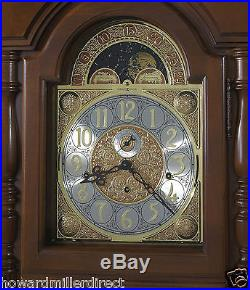 Howard Miller 611-226 Wilford Traditional Cherry Floor Clock with Bonnet Top