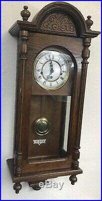 Howard Miller 612-462 Oak Wall 3 Chimes Clock with Westminster Chime Key Vintage