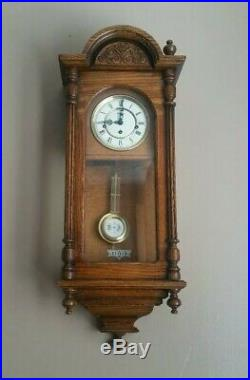 Howard Miller 612-462 Oak Wall 3 Chimes Clock with Westminster Chime Key Wind