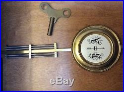 Howard Miller 612-462 Oak Wall Clock Key Wound 8 Day With Westminster Chime