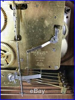 Howard Miller 612-533 Regulator Clock WithKey Westminster Chime #1635