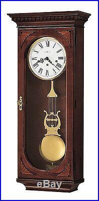 Howard Miller 613-637 (613637) Lewis Wall Clock Windsor Cherry