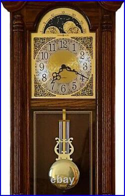 Howard Miller 620-156 Fenton Wall Clock Golden Oak