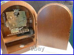 Howard Miller 8 Day Barrister Mantle Shelf Clock Westminster Chimes Inlay Wood