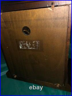 Howard Miller 8 Day Keywound Westminster Chime Mantle Clock, 612-437. Works