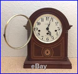 Howard Miller Barrister 613-180 Westminster Chime 340-020 Mahogany Mantel Clock