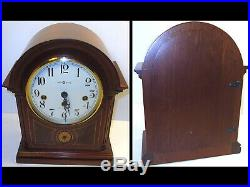 Howard Miller Barrister Mantle Clock Mahogany Key Wound Westminster Chime German