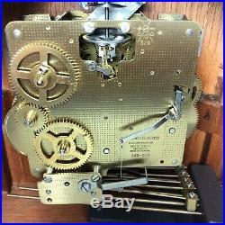 Howard Miller Barrister Model 613-180 Mantle Clock Westminster Chime 340-020