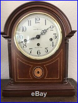 Howard Miller Barrister Model 613-180 Mantle Clock Westminster Chime WithKey