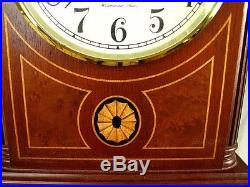 Howard Miller Clock Barrister Westminster Chimes Inlaid Mantle! Near Mint