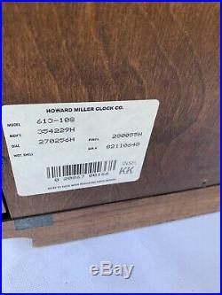 Howard Miller Clock Westminster Mantel Chime 613-108 Sandringham With Key Works Y5