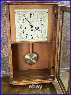 Howard Miller Clock Westminster Mantel Wall Chime 613-108 Sandringham w Key