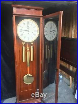 Howard Miller Contemporary Clock with Cherry Finish