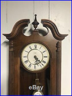 Howard Miller Danwood Wall Clock 612 697 Westminster Chime Cherry