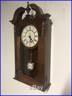 Howard Miller Danwood Wall Clock 612-697 Westminster Chime Cherry