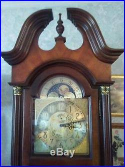 Howard Miller Grandfather Clock Cherry Wood withCherry Bordeaux Finish Rare