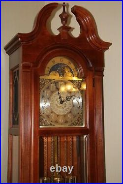 Howard Miller Grandfather Clock. WITH MOON DIAL