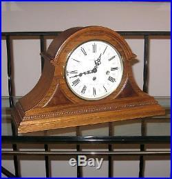 howard miller key wind 8 day westminster chime mantle clock german mvt oak case - Howard Miller Mantel Clock