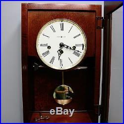 Howard Miller Lancaster 23 Key-Wind Wall Clock Westminster Chime Silence Option