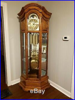 Howard Miller Majestic Grandfather Clock Curio- excellent condition