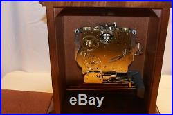 Howard Miller Mantel Shelf Clock Graham Bracket 340-020 Westminster Chimes & Key