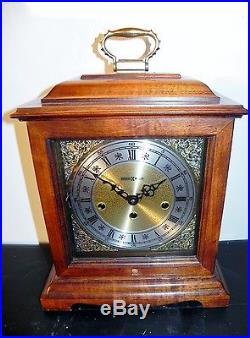 Howard Miller Mantel Shelf Clock Graham Bracket 612-437 Westminster Chimes & Key