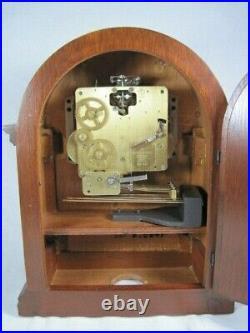 Howard Miller Mantle Clock Westminster Chime Inlaid Barrister Model No # 613-180