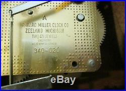Howard Miller Mantle Clock Westminster Chimes 612-618