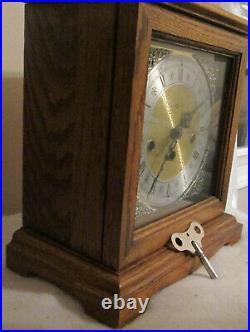 Howard Miller Mantle Westminster Chime Clock Germany 2 Jewels 340-020