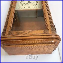 Howard Miller Mechanical 1/4 Hour Westminster Chime Oak Wall Clock 613-108