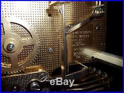Howard Miller Model 613-104 Key Wind Westminster Chiming Wall Clock WORKS! NR