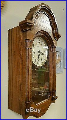 howard miller model wind westminster chime pendulum wall clock with key