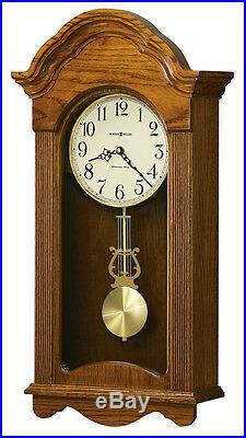 Howard Miller Oak Finish, Chiming Wall Clock 625-467 Jayla