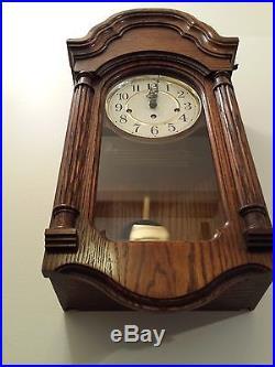 howard miller pendulum wall clock model with key wind westminster chime - Howard Miller Wall Clocks