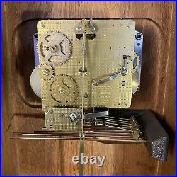 Howard Miller Regulator Westminster Chime Wall Hanging Clock West Germany with key
