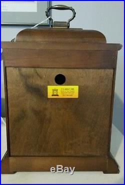 Howard Miller Samuel Watson 612-429 Cherry Mantel Clock, Triple Chime