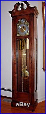 Howard Miller Solid Cherry Grandfather Clock Westminster Chime