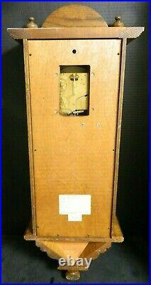 Howard Miller Vienna Regulator Westminster Chime Oak Wall 8 Day Clock 612-462